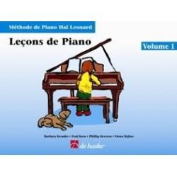 Leçons de piano Hal Leonard vol 1 CD inclus