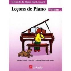 Lecons de piano Hal Leonard vol 2 CD inclus