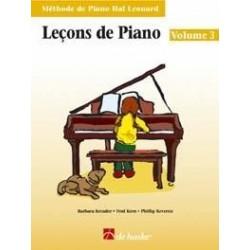 Lecons de piano Hal Leonard vol 3 CD inclus
