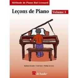 Leçons de piano Hal Leonard vol 5 CD inclus