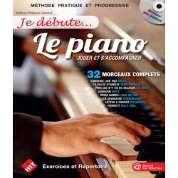 Je débute le piano Phlippe Gérard Hélène avec CD