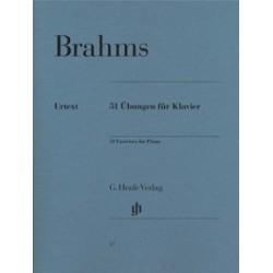 BRAHMS Johannes 51 exercices pour piano