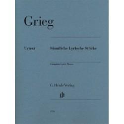 GRIEG Edvard Edition intégrale des Pièces lyriques piano