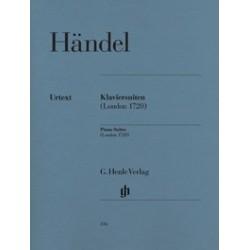 handel Georg Friedrich Suites pour piano (Londres 1720)