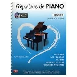 Répertoire de piano Astié avec CD vol 2
