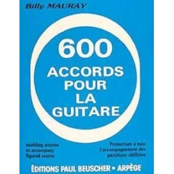 600 accords pour la guitare Billy Mauray