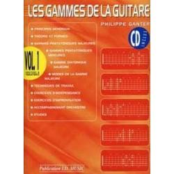 Gammes de la guitare GANTER 1 CD