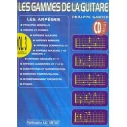 Gammes de la guitare GANTER 3 CD